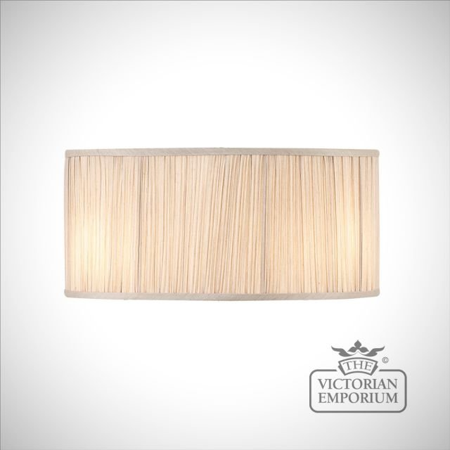 Kemp 17 inch straight lamp shade in Beige or Black
