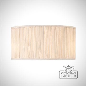 Kemp 18 inch oval lamp shade in Beige or Black