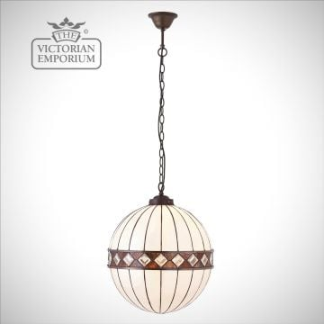 Fargo globe light in a choice of two sizes