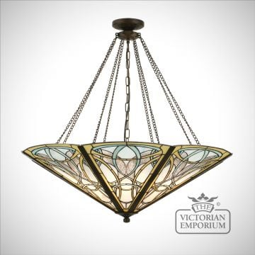Dauphine mega panel inverted 8lt pendant
