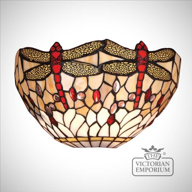 Dragonfly beige wall light