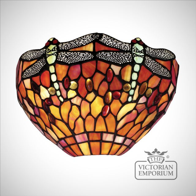 Dragonfly Flame wall light