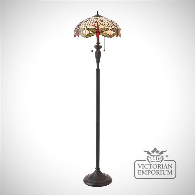 Dragonfly beige floor light