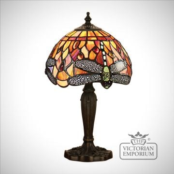 Dragonfly flame table lamp - mini, small or medium