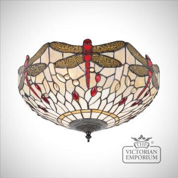 Tiffany Dragonfly beige medium 2lt flush