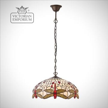 Dragonfly beige medium 3lt pendant