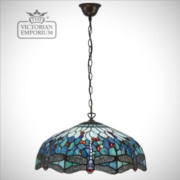 Dragonfly blue 3lt pendant - medium or large