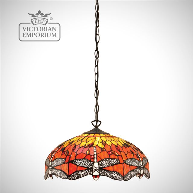 Dragonfly flame 3lt pendant - medium or large