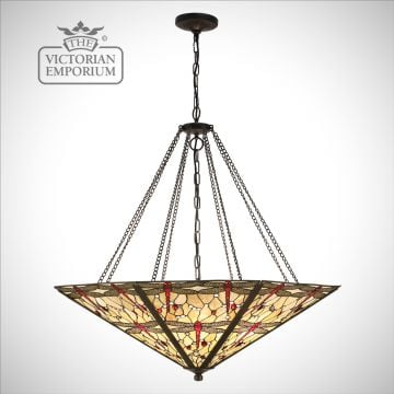 Dragonfly beige mega panel inverted 8lt pendant