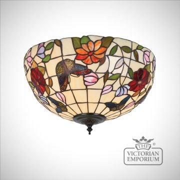 Butterfly flush mount light in medium or large