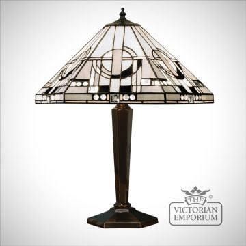 Metropolitan medium table lamp in bronze or aluminium