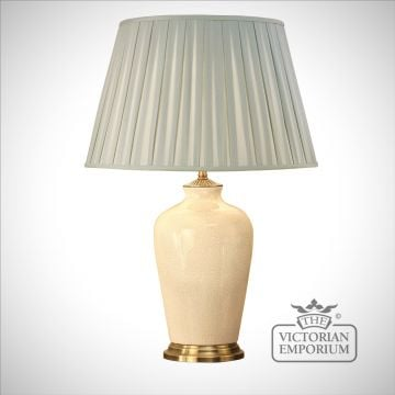 Ryhall ivory table lamp - small or large