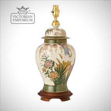 Lily & Irises table lamp