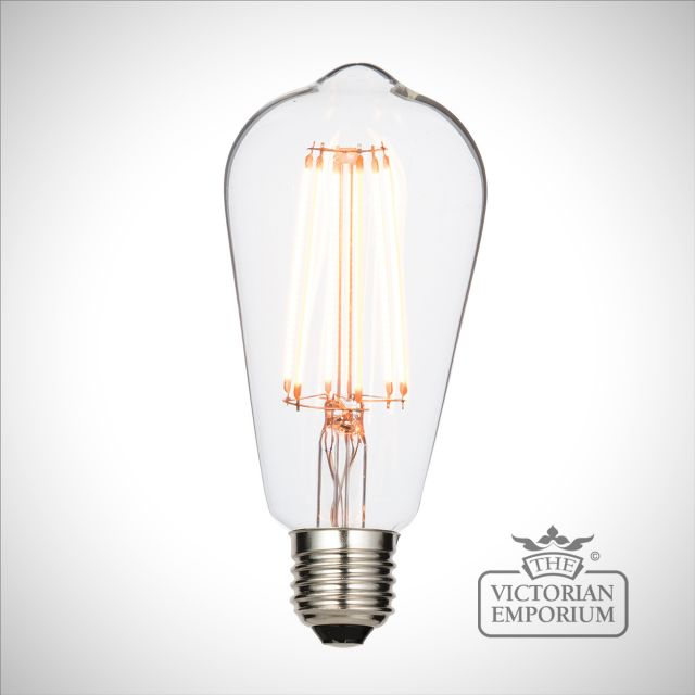 E27 LED filament pear dimmable 6W warm white