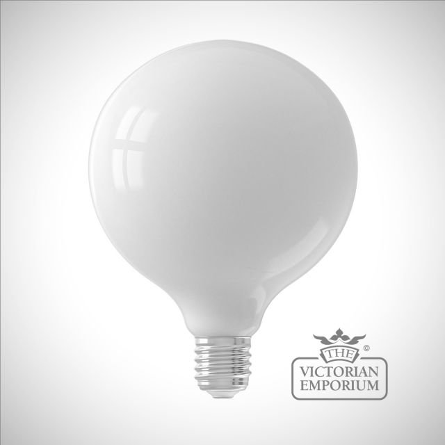 LED Milky White Globe Bulb Dimmable E27 6W 12.5cm