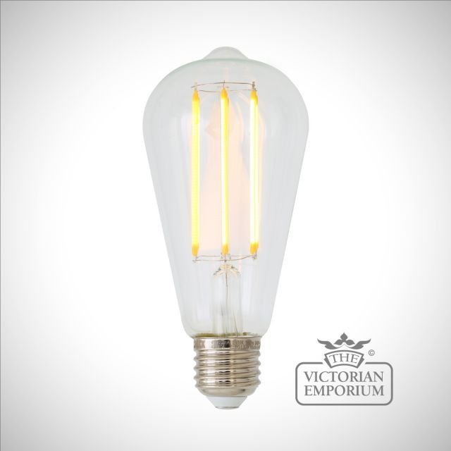 LED Teardrop Filament bulb - dimmable E27 4W