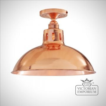 Berlin Ceiling Light in Polished Copper