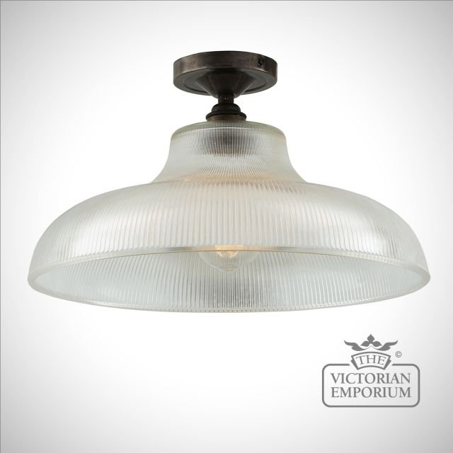 Primatics flush mount ceiling light in a choice of finishes - 30cm or 40cm
