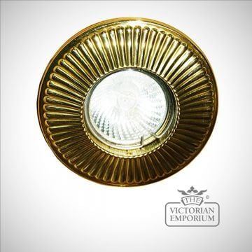 Penn decorative fluted recessed spot light in a choice of finishes