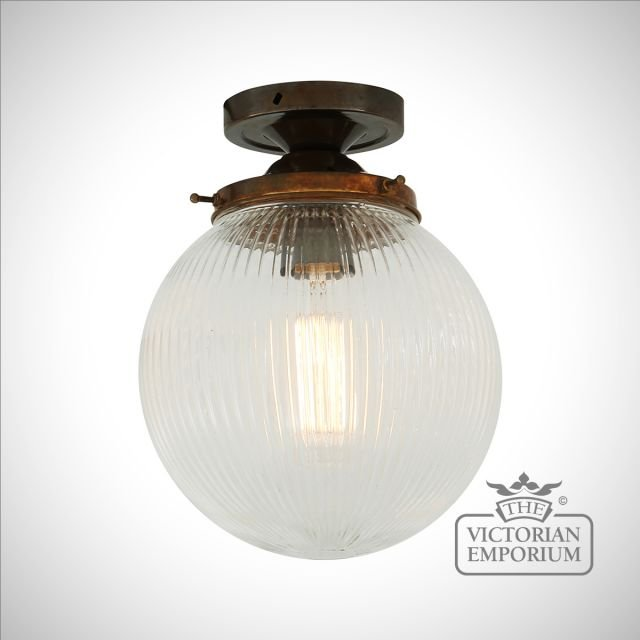 Stanley Fluted Globe Ceiling Light in a choice of colours