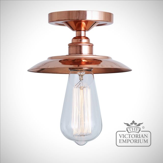 Suvar Flush Ceiling Light in Polished Copper