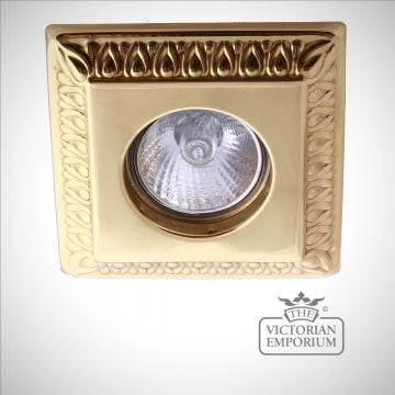 Vada recessed spot light in polished brass