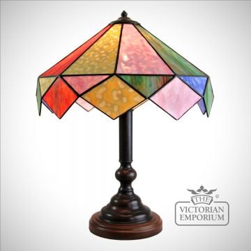Harlequin Handmade Opal coloured Table Lamp