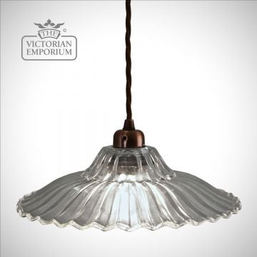 Pretty fluted and frilled ceiling pendant
