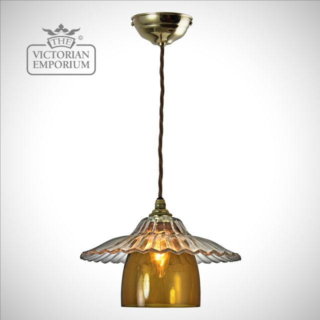 Havana two shade pendant in a choice of colours