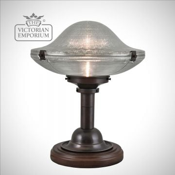 Reeded Table Lamp on mahogany stand