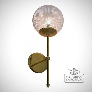 Prismatic globe wall sconce on elegant bracket