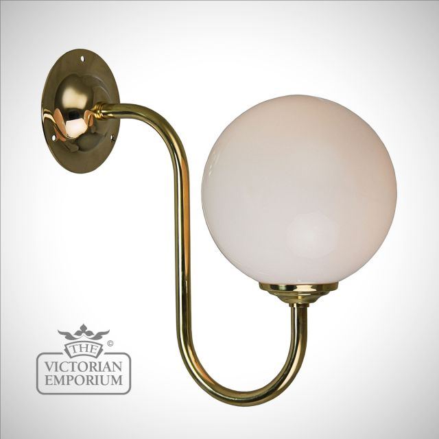 Flashed Opal Globe Wall Light
