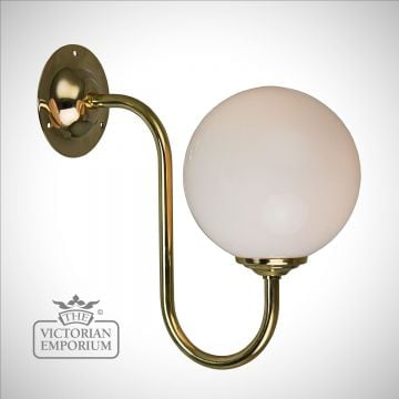Flashed Opal Globe Wall Light