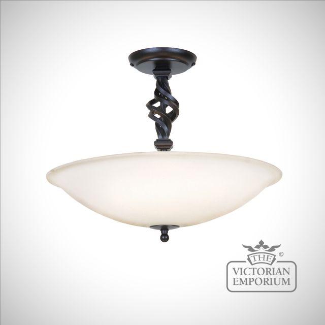 Pembroke 3 Light Semi-Flush – Black or Black/Gold