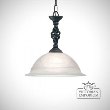 Pembroke 1 Light Pendant in Black or Black/Gold