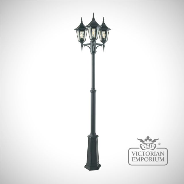 Valence 3 Light Triple Head Lamp Post
