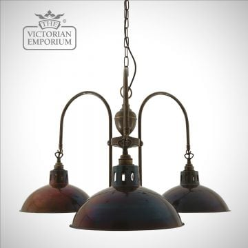 Golana 3 Arm Industrial Look Chandelier