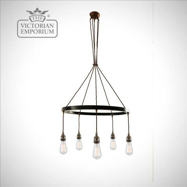 Loma Chandelier in Antique Brass