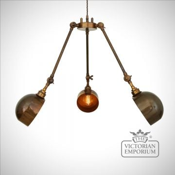 Nevia Steampunk 3 Arm Chandelier