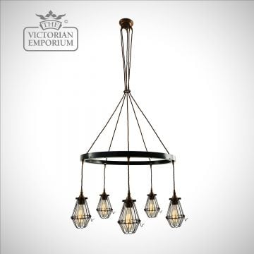 Praya Chandelier in Antique Brass