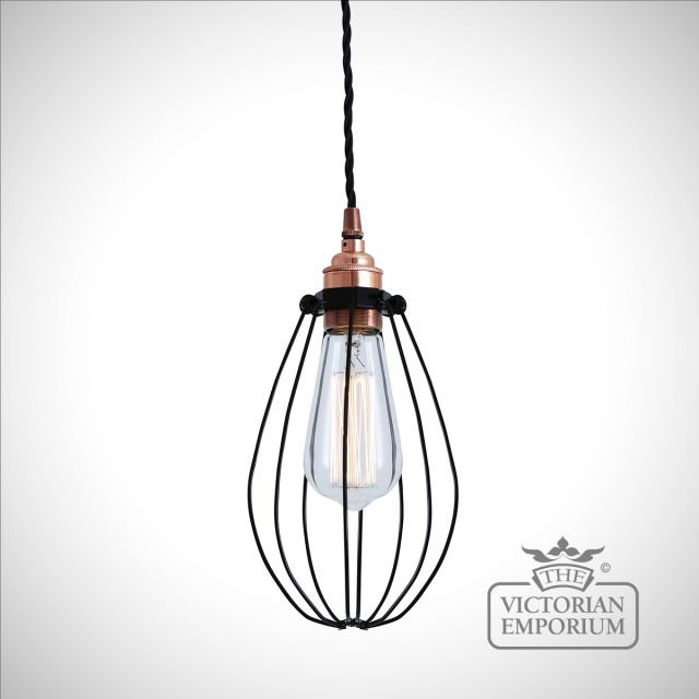 Abuja Pendant Light in Polished Copper