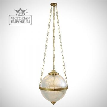 Victorian Holophane Pendant Light