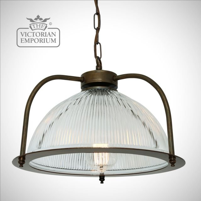 Boust Holophane Pendant Light with or without diffuser