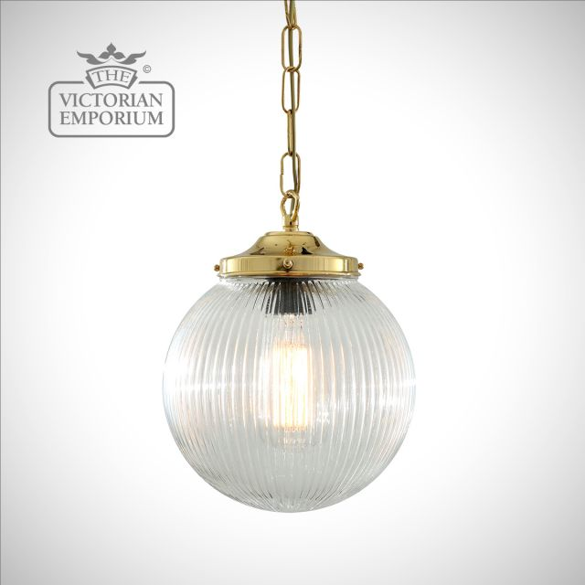 Fitzroy Globe Holophane Pendant Light