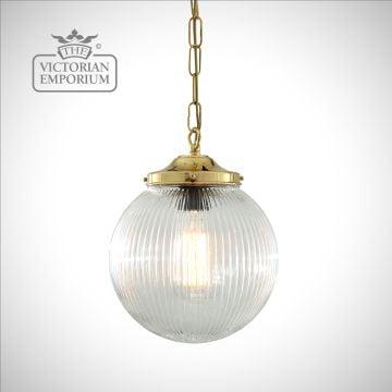 Fitzroy Globe Holophane Pendant Light
