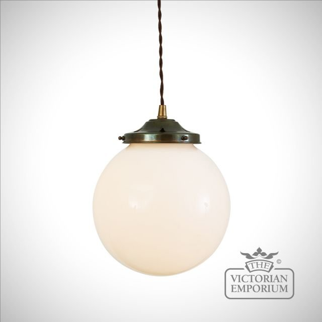 Simple Opal Globe Pendant Light - choice of sizes and finishes