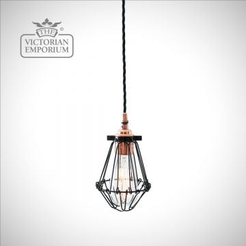 Jubar Pendant Light in Polished Copper