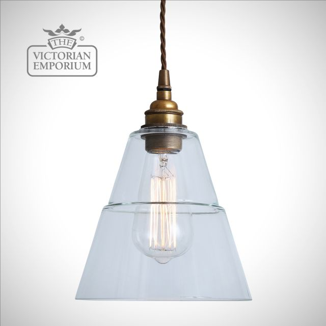 Lynx Clear Glass Pendant Light