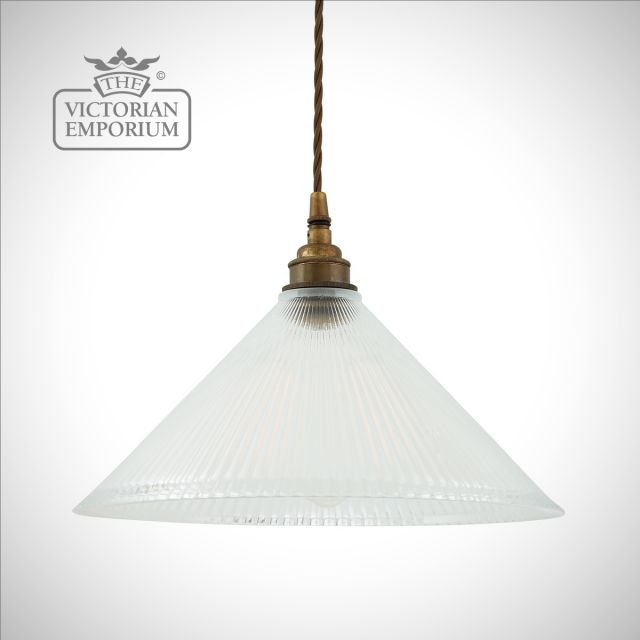Rebell ceiling pendant light with prismatic glass shade