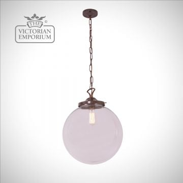 Riad Single Globe Pendant in a choice of sizes